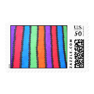 Colorful Stripes/Dots Postage