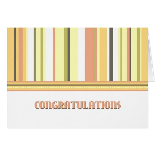 Colorful Stripes Employee Anniversary Card