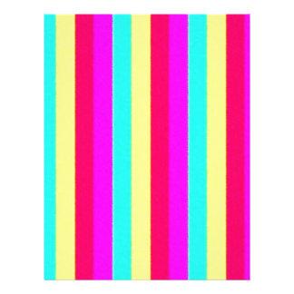 colorful stripes, flashy customized letterhead