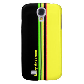 colorful stripes galaxy s4 cover