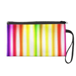Colorful Stripes  Glowing Wristlet Purse