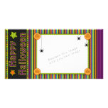 Colorful stripes - halloween colors and pattern photo card