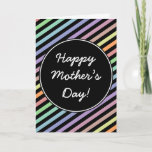 [ Thumbnail: Colorful Stripes + Happy Mother's Day! Card Card ]