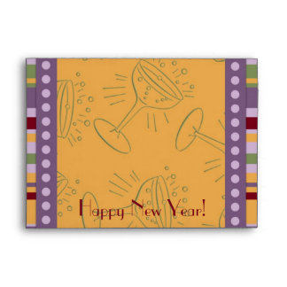 Colorful Stripes Happy New Year Envelopes
