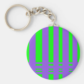 colorful stripes basic round button keychain