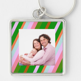 Colorful Stripes Keychain