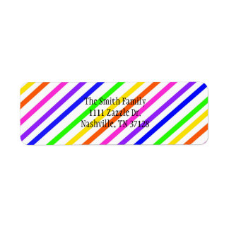 Colorful Stripes Label