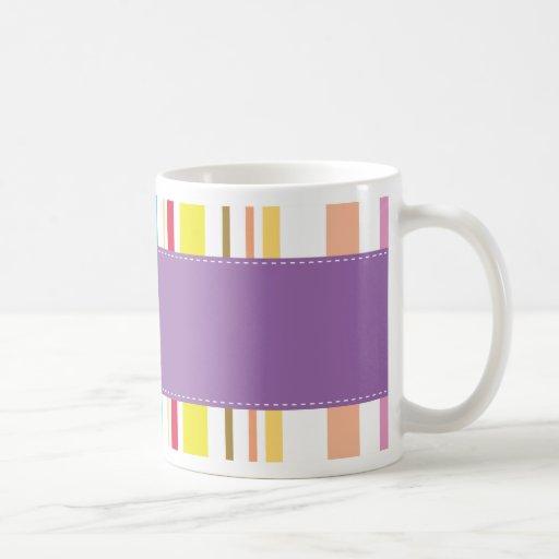 Colorful Stripes, Lavender Coffee Mug