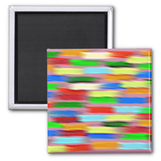 Colorful stripes magnet