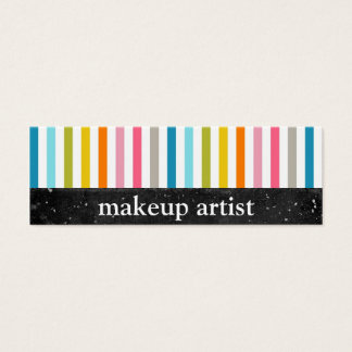 Colorful Stripes - Makeup Artist - Business Cards