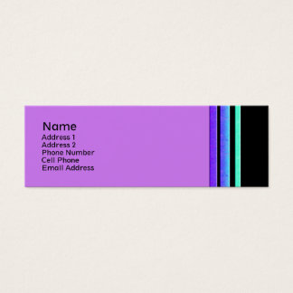 colorful stripes mini business card