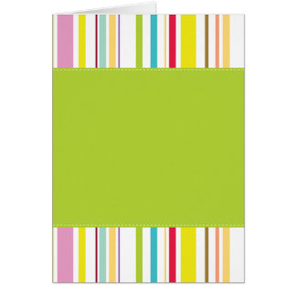 Colorful Stripes, Mint Greeting Cards