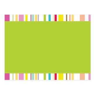 Colorful Stripes, Mint Postcard