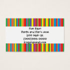 """""""Colorful Stripes"""" Mommy Contact Cards"""