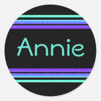 colorful stripes name tag