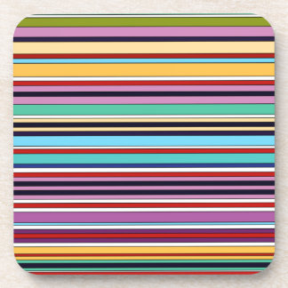 colorful stripes OF buzzer Beverage Coaster