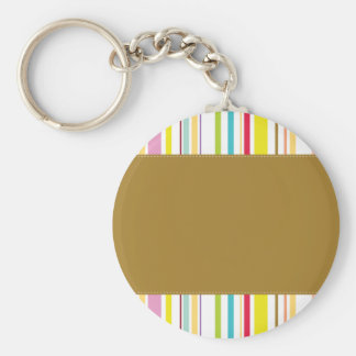 Colorful Stripes, Olive Keychain