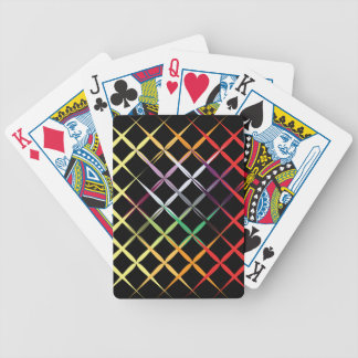 Colorful Stripes on Black Design Playing Cards