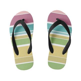 Colorful Stripes Pattern Flip Flops