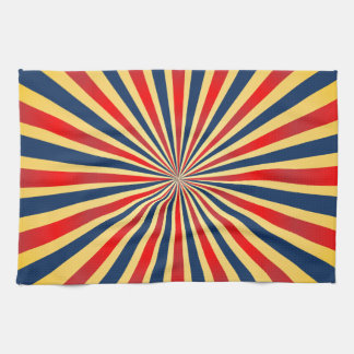 Colorful stripes pattern hand towel