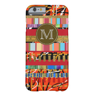 colorful stripes pattern new iPhone6 with initial Barely There iPhone 6 Case