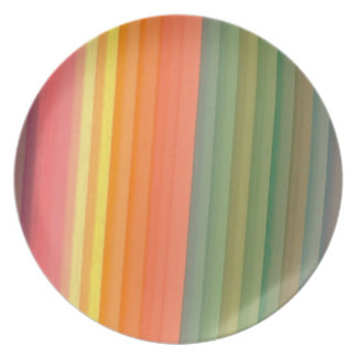 Colorful Stripes Pattern Dinner Plates