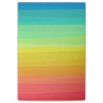 Colorful stripes pattern post-it notes