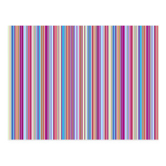 Colorful stripes pattern postcard
