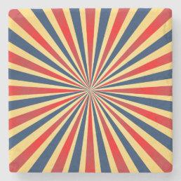 Colorful stripes pattern stone coaster