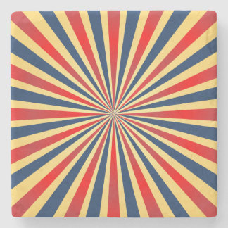 Colorful stripes pattern stone coaster