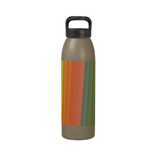 Colorful Stripes Pattern Water Bottle