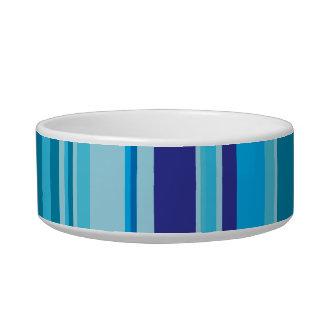 Colorful stripes pawprint custom name pet cat bowl
