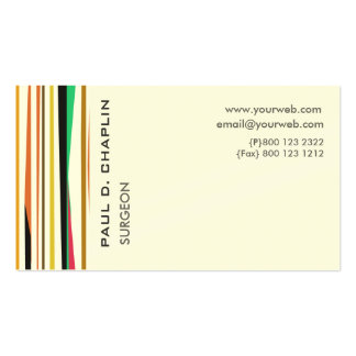 Colorful Stripes Pediatric Doctor  Appointment Business Card