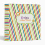 Colorful Stripes Personalized Collage Scrapbook Binder