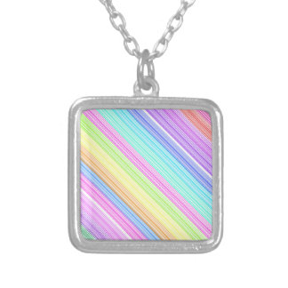 Colorful Stripes Personalized Necklace