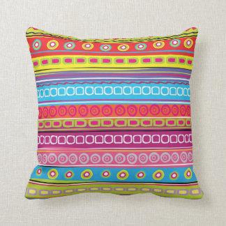 Colorful Stripes Pillow - SRF