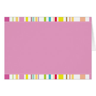 Colorful Stripes, Pink Cards