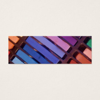 Colorful Stripes (Pink, purple, green, yellow) Mini Business Card