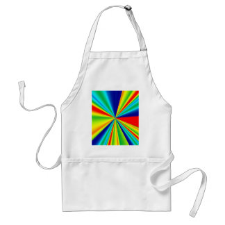 Colorful Stripes Pinwheel Adult Apron