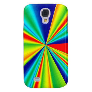 Colorful Stripes Pinwheel Galaxy S4 Cover