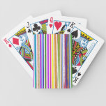 Colorful Stripes Playing Cards