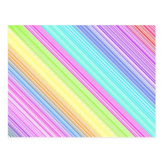 Colorful Stripes Postcard