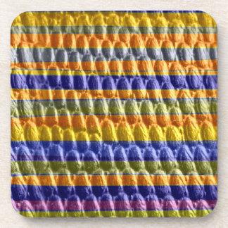 Colorful stripes retro graphic design coaster