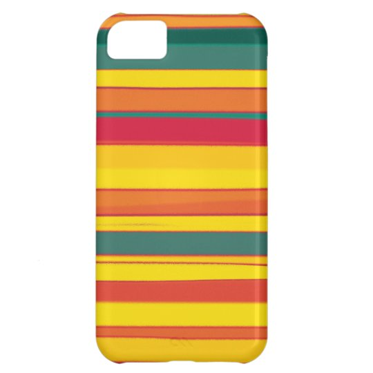 Colorful stripes seamless graphic design iPhone 5C cover
