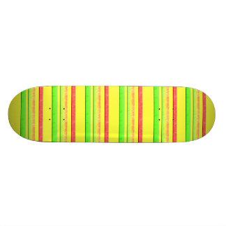 colorful stripes skateboard deck