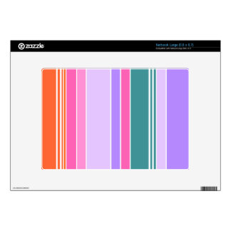 Colorful Stripes Netbook Decals