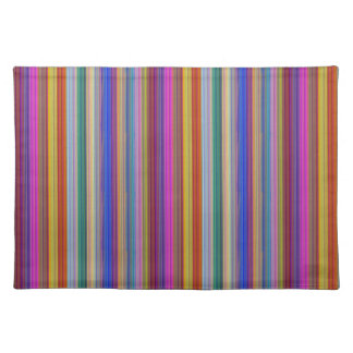 Colorful stripes template add text image graphics cloth placemat