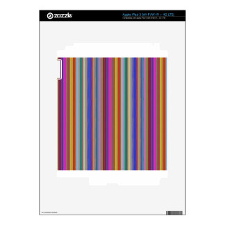 Colorful stripes template add text image graphics decal for iPad 3