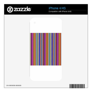 Colorful stripes template add text image graphics skins for iPhone 4S