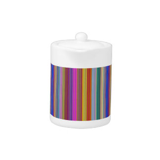 Colorful stripes template add text image graphics teapot